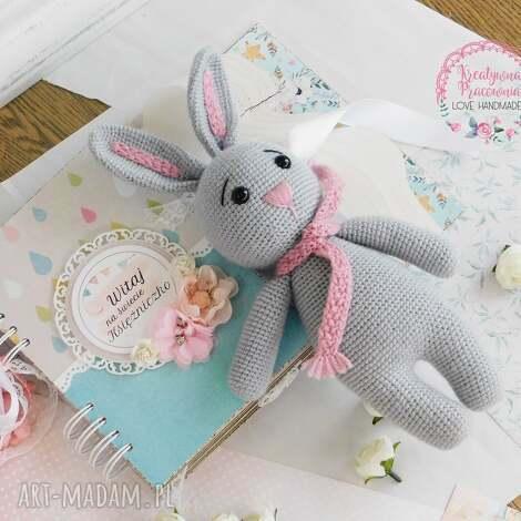 szydełkowa królisia - gotowa do wysyłki - królik, szydełkowy