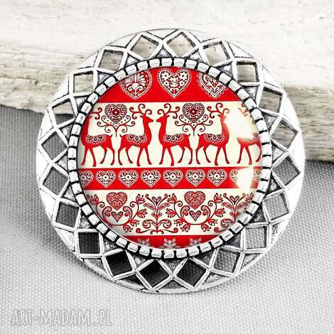 świąteczny klimat stylowa broszka na prezent - swięta, święta