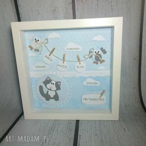 maluszkowa metryczka - narodziny, urodziny, prezent, chrzest, metryczka