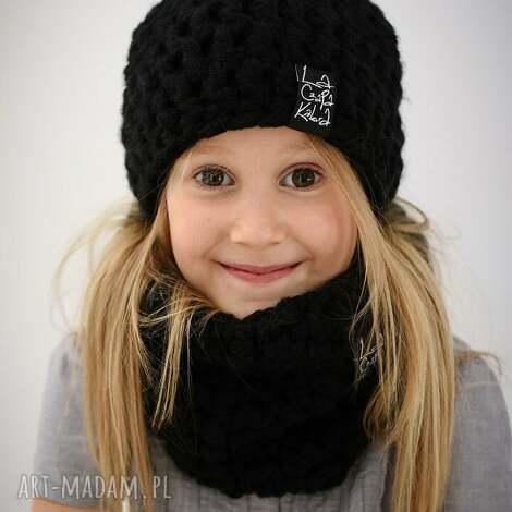 monio 01 - czapka, czapa, zima, zimowa, ciepła, dziecięca