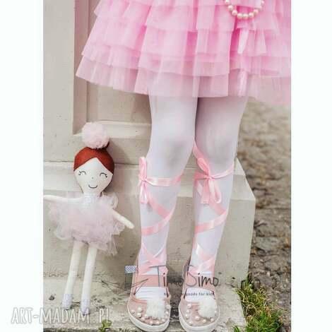 lalka ręcznie robiona melania różowe dodatki - bawełna