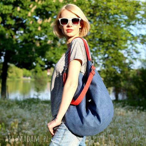 opis hobo xxl true colors - marine, torba, torebka, granatowa, czerwona, worek