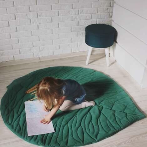 mata do zabawy - liść zielony, mata, dywanik, zabawa, pokoik, dziecko, liść