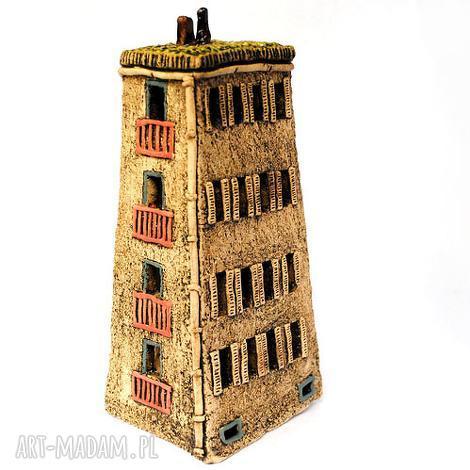 ceramiczna rzeźba dom i, rzeźba, ceramika, unikat, rękodzieło