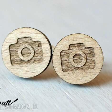 drewniane spinki do mankietów aparat - spinki, bukowe, drewniane, mankiety, aparat