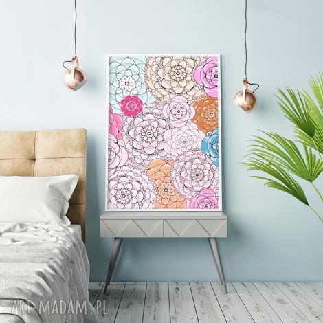 święta prezent, grafika kwiaty a3, kwiaty, kwiat, kwiatek, obraz, plakat
