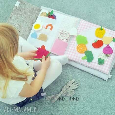 ksiązeczka sensoryczna quiet book dla dziewczynki 3 - quietbook, książeczka