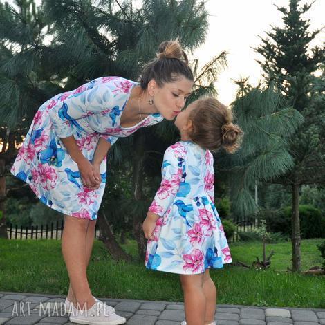 sukienki dla mamy i córki koliber, sukienki, dzianina, eko, dlamamyicórki