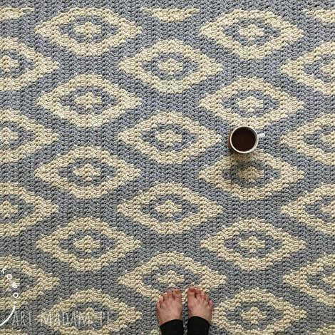 dywany dywan geometryczny, dywan, romby, wzór, nordic, skandynawski