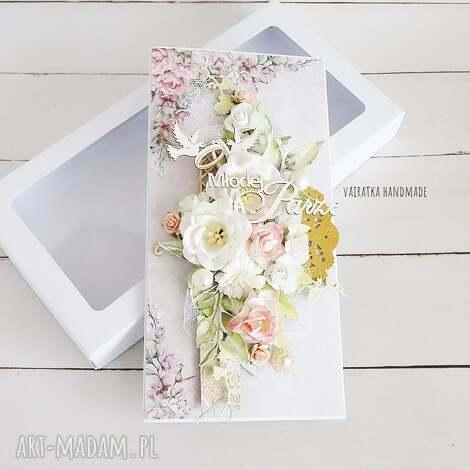 Vairatka Handmade, kartka ślubna w pudełku, 603 ślub, wesele, pamiątka, prezent
