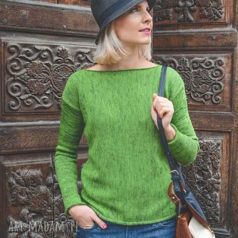 dzianinowa bluzka 252, na wiosnę, damska bluzka, unikatowa sweter
