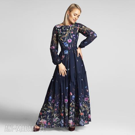 sukienka delia maxi lorena, maxi, długa sukienka, kwiaty