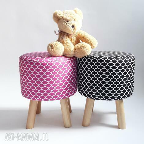 pufa różowe maroco - 36 cm, marco, taboret, stołek, ryczka, dziecko, salon