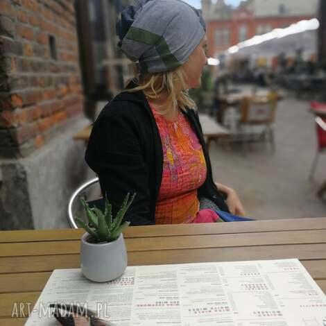 czapka damska szyta patchworkowo uniwersalna - czapka, folk, etno, sportowa, kolorowa