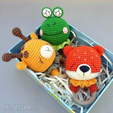 grzechotka - gryzak żabka (oryginalny, prezent niemowlęca zabawka)