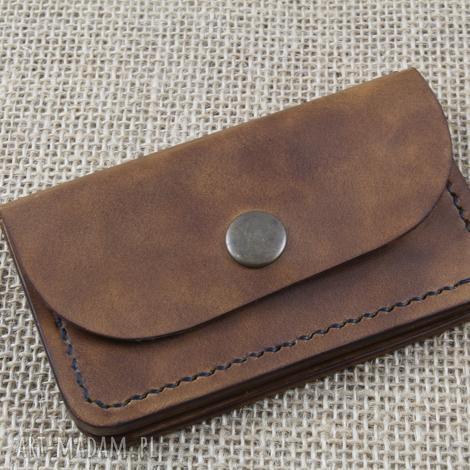 portfel skórzany z kieszonką ma monety, skóra, portfel, etui, karty, grawer