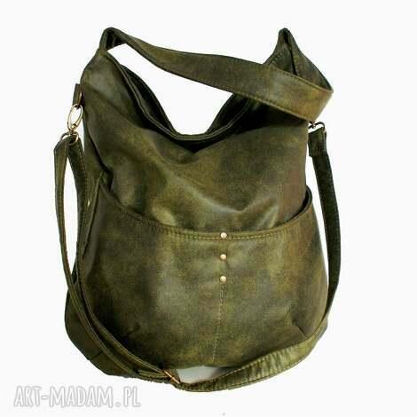 prezent na święta, ramię workówka zieleń, bag, torebka, torba, vegan, hobo