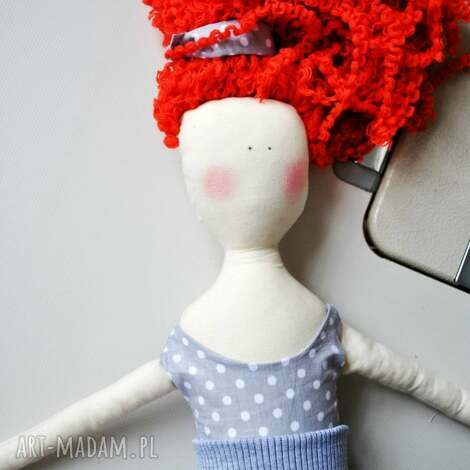 pani lala, lalka, ruda, kręcone, rude, włosy, prezent