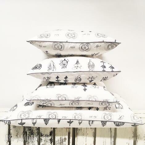 komplet poduszek ozdobnych - 4 sztuki od majunto, zestaw poduszek, poduszki