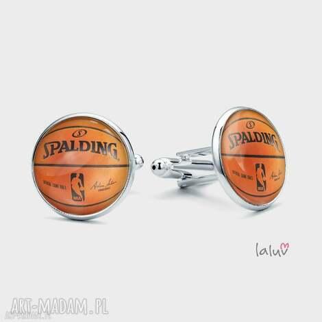 spinki do mankietów basketball - koszykówka, piłka, chłopak, prezent