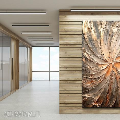 grubo rzeźbiony obraz nowoczesny nie tylko do salonu - obrazy do salonu, obrazy