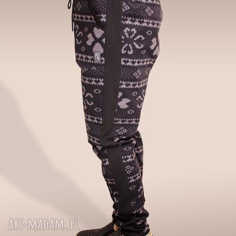 spodnie z lampasami - lampasy, nadruk, musthave