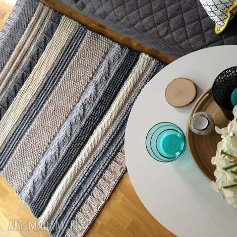 dywan patchwork wariacja nr2 - handmade, naturalny, bawełna
