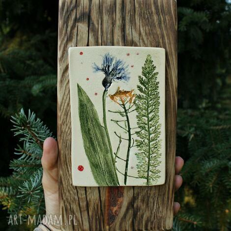 obrazek letnia łąka, obrazek, obraz, ceramika, kwiaty polne, łaka, dekor
