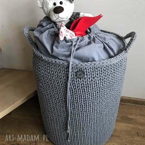 kosze kosz stojący big bag lux, na zabawki, pranie, organizer