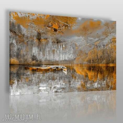 obraz na płótnie - pejzaż góry pomarańczowy 120x80 cm 30702, pejzaż, krajobraz