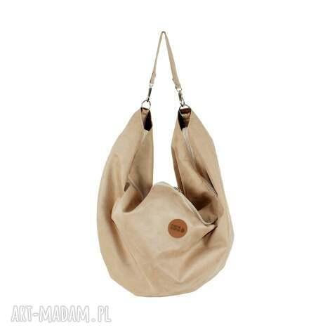 na ramię duża torba oversize voor #beżowy, modna, wygodna, pojemna