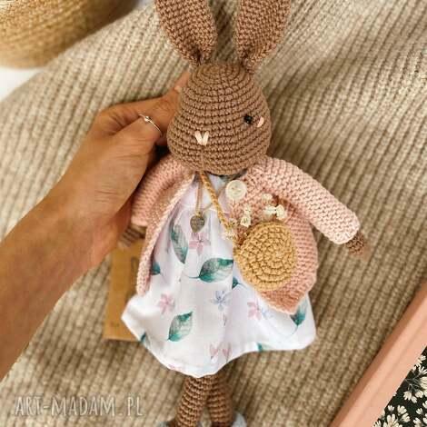 maskotki szydełkowa króliczka martusia, ręcznie wykonane, maskotki, przytulanki