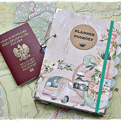 planner podróży, pamiętnik podróży z personalizacją, planer