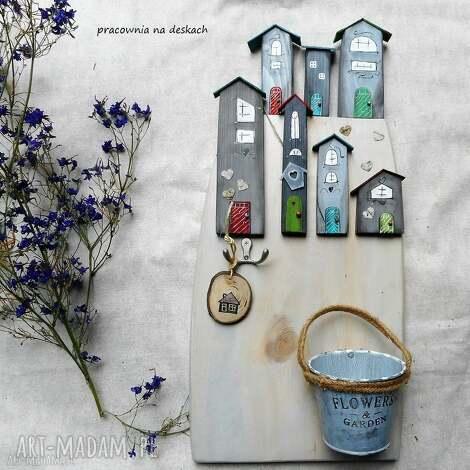 wieszaki domki-wieszak nr 2, dom, domki, doniczka, ozdoba, prezent, do domu