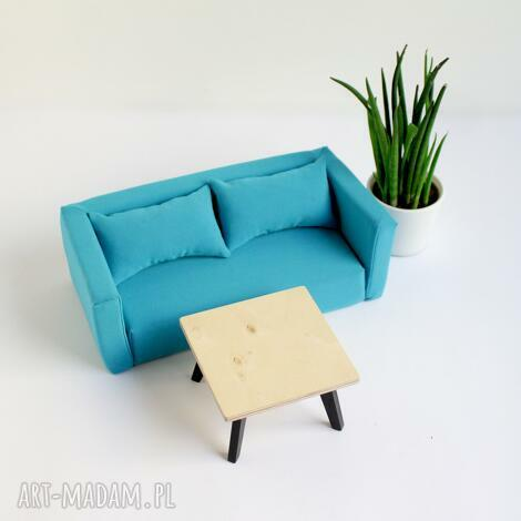 kanapa miękka dla lalek, kanapa dla lalek, domek mebelki salon