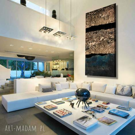 abstrakcyjny obraz do salonu w stylu modern glam - obrazy do salonu, obrazy nowoczesne