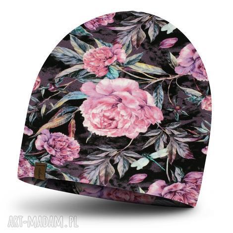 jesienna czapka dla dziewczynki, podwójny ateriał, ciepła, na prezent
