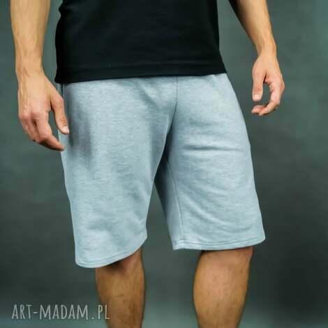 sportowe city shorts grey, męskie spodenki, spodenki dresowe, szare casual