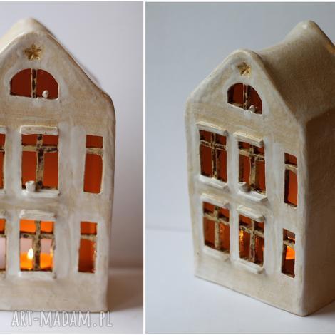 ceramika domek lampion, domek, ceramika, vintage, ażurowy dom