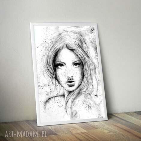 grafika rysunek kobieta akwarele, rysunek, dekoracja, farby, obraz