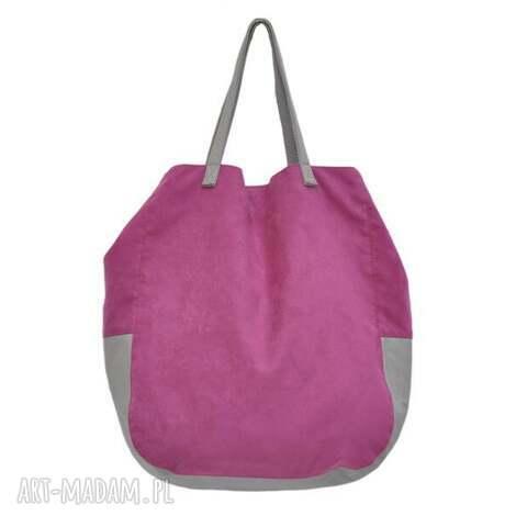 06-0013 różowa torba worek xxl na zakupy swallow maxi, duże, torebki, worki