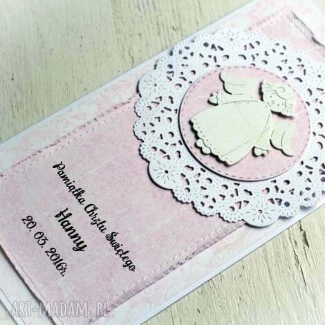 pamiątka chrztu personalizowana różowa - pamiątka, chrztu, dziewczynka