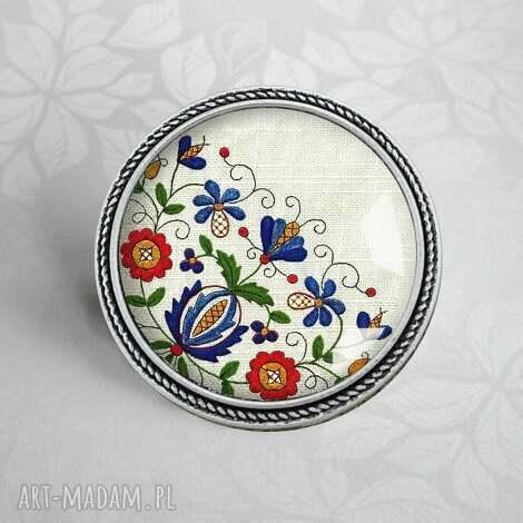 broszka casube - kaszubski, etno, styl, etniczna, ludowa, ludowy