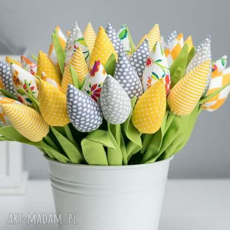 dekoracje tulipany bawełniane 12 sztuk, kwiaty, prezent, tulipany, święta