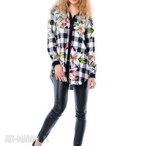 linda hypnotic - koszula w kratę i kwiaty, koszula, krata, kwiaty koszulki
