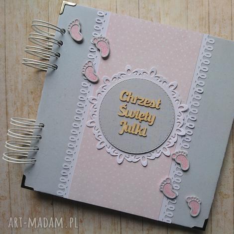album - tup-tup w różu, chrzest, stópki, urodziny, narodziny, prezent