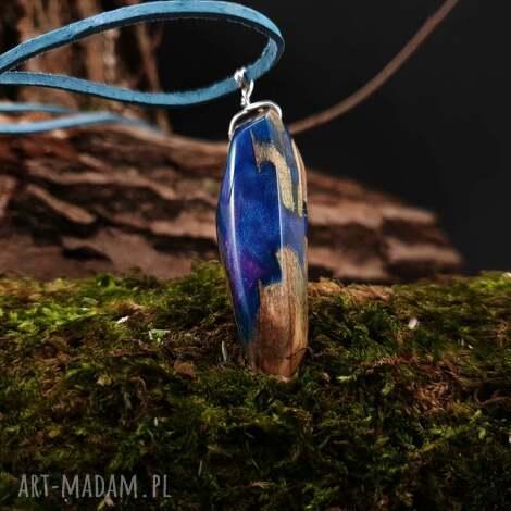 wisior drewno i żywica anobium punctatum - drewniany, natura, prezent, boho