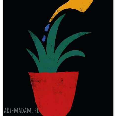 dekoracje plakat a2 jesteś tym co jesz, filozofia, minimalizm, prosty przekaz