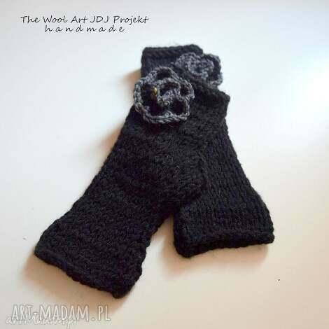 mitenki - rękawiczki, mitenki, czarne, prezent