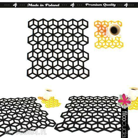 serwetki filcowe geometric 4 szt, serwetka, filcowa, filcowy, filc, podkładka